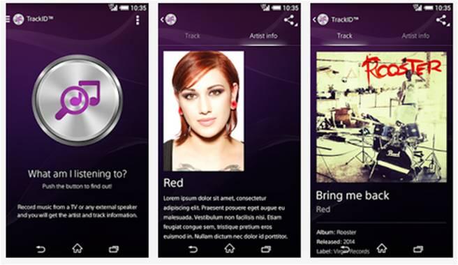 TrackID riconoscere la musica da Android