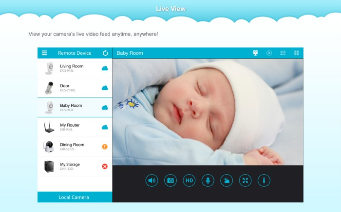 Videocamera d link dcs 5020l con app mydlink lite per for App per progettare casa android