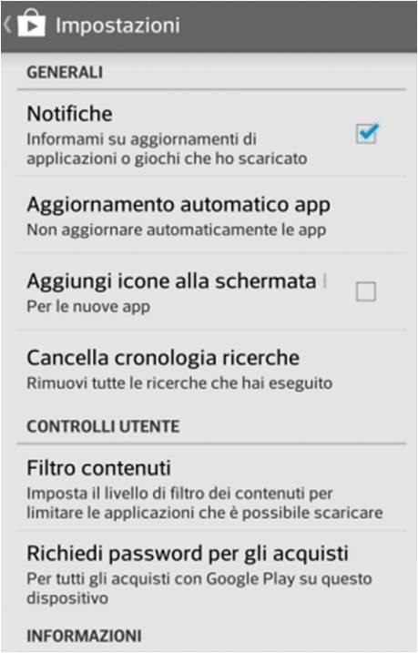 aggiornare le applicazioni in automatico su Android