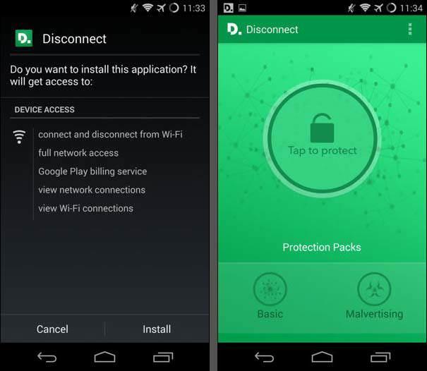 Come bloccare malware su Android con Disconnect
