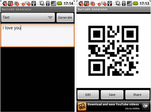 Come creare QR Code gratis su Android con Barcode Generetor  Reader