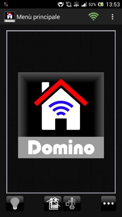 Domino sistema di automazione per la casa di duemmegi con for App per progettare casa android