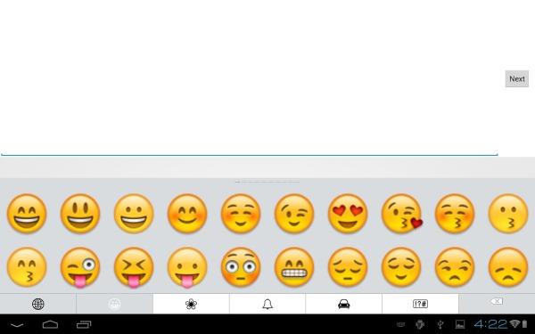 Emoji su Android  tastiera
