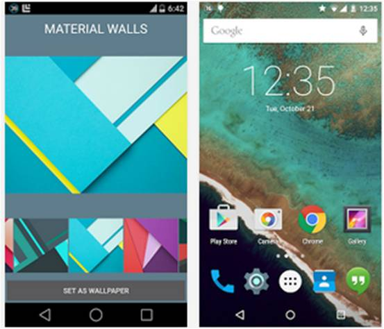 Material Wallpapers (Android L)