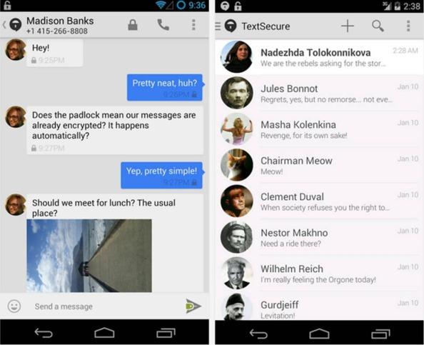 TextSecure Private Messenger SMS crittografati su Android