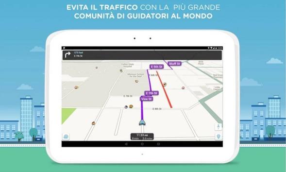 Waze Social GPS Maps & Traffic migliori applicazioni Android per spostarti in città