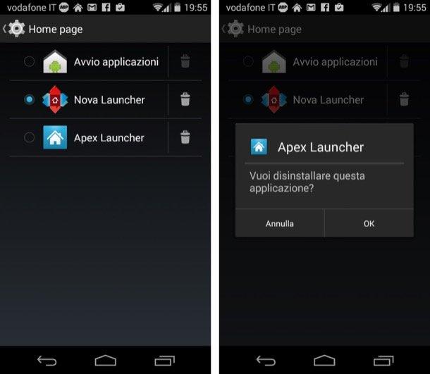 attivare Launcher su Android
