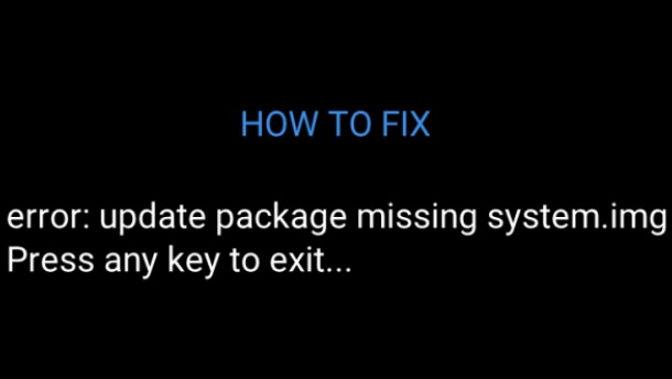 errore missing system.img