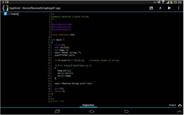 CPPDroid programmare con Android  editor di codice