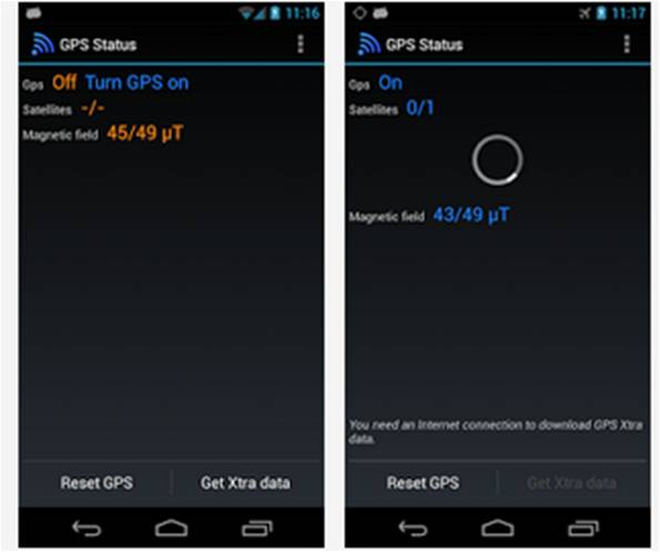 GPS lento su Android GPS Status – Text & FX