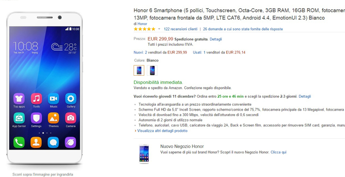 Huaweihonore6-amazon