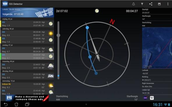 ISS Detector applicazioni di astronomia su Android
