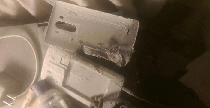 LG G3 -esplosione