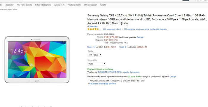 samsung galaxy tab 4 10.1 - amazon