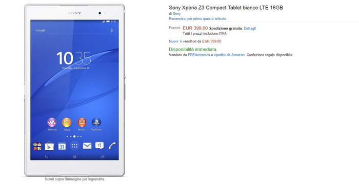 sony xperia z3 tablet compact - amazon