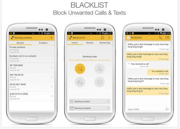 Black List applicazioni Android consigliate