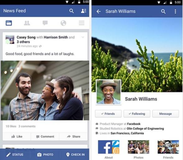Facebook applicazioni Android consigliate