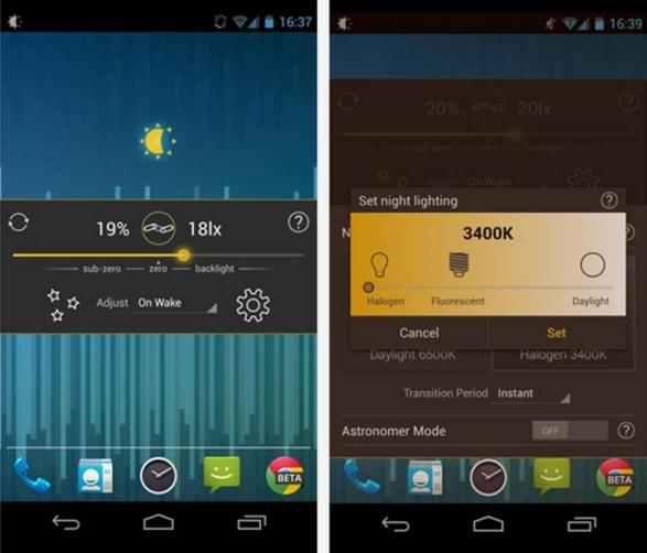 Lux Lite app per regolare luminosità Android