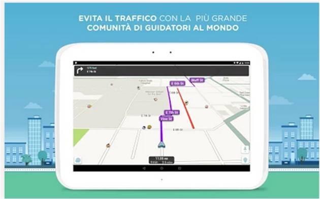 Waze Social GPS Maps & Traffic applicazioni Android per risparmiare tempo e denaro