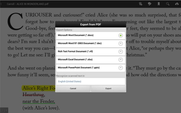 Adobe Reader modificare PDF su Android