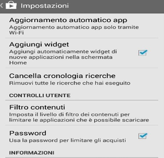 Come disattivare acquisti in app Android