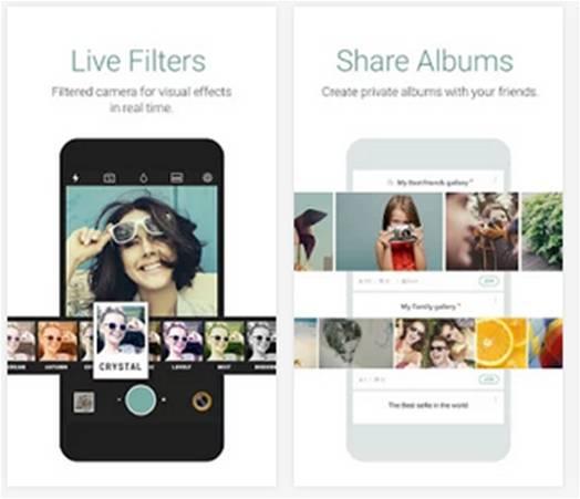 Cymera alternativa di Camera di Android