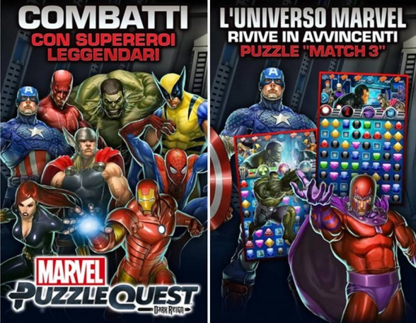 Marvel Puzzle Quest giochi supereroi gratis