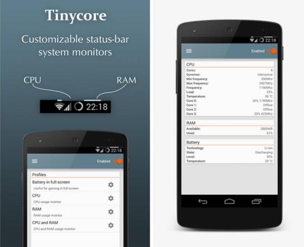 TinyCore prestazioni smartphone Android