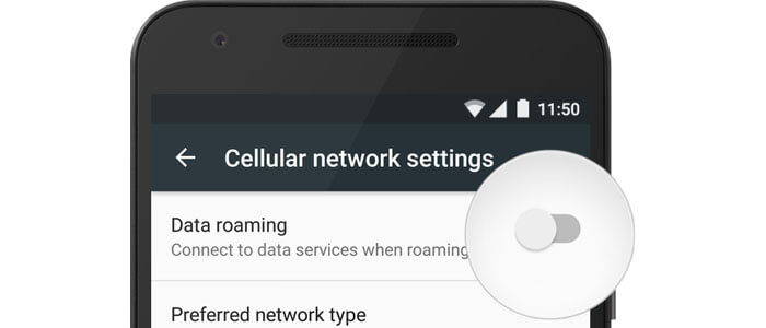 Come attivare o disattivare il roaming su Android Stock