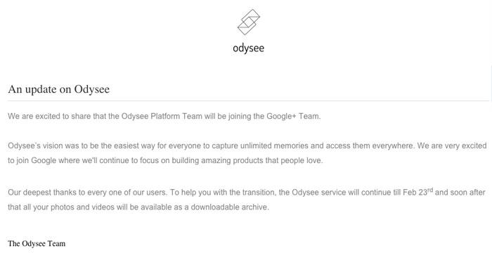 odysee Google+