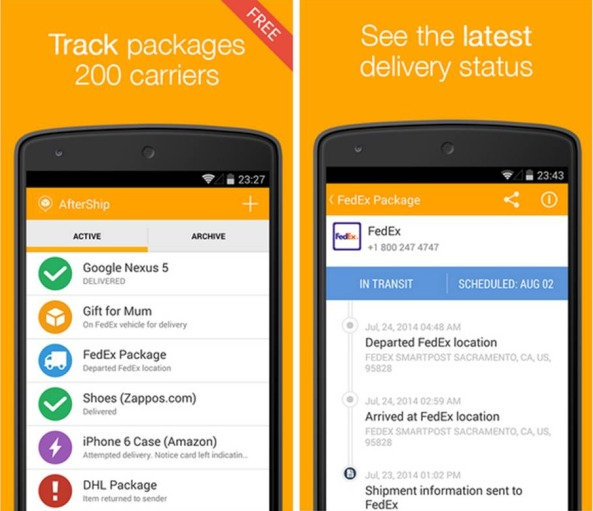 AfterShip Package Tracker tracking spedizioni Android