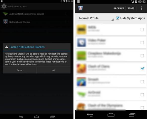 Come bloccare le notifiche su Android con Notify Block
