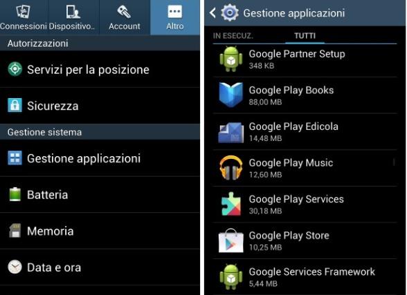 Come disinstallare app Android preinstallate senza root