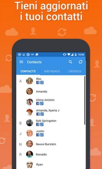 Come inserire foto contatti Android  Sync.ME – Caller ID & Block