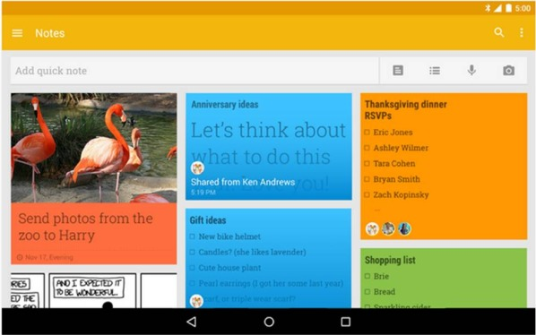 Google Keep applicazioni Android da avere assolutamente