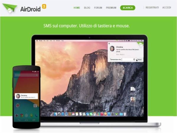come gestire Android dal computer con AirDroid