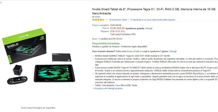 nvidia shield tablet 8 - migliori offerte amazon -24032015