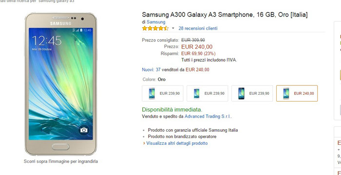 samsung galaxy a3 -amazon-09032015