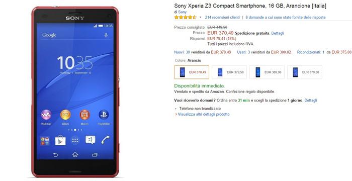 sony xperia z3 compact - amazon-17032015
