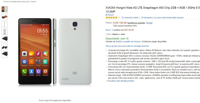 xiaomi hongmi note 4g -amazon-25032015