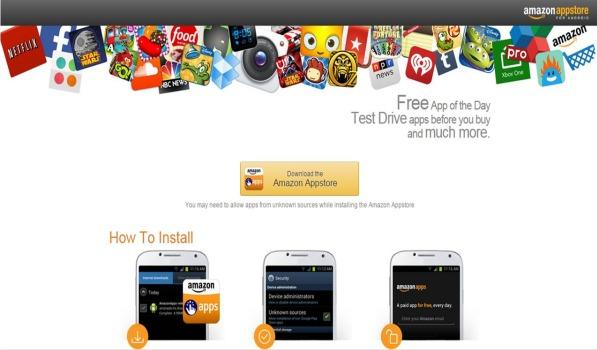 Amazon App Store su Android installazione
