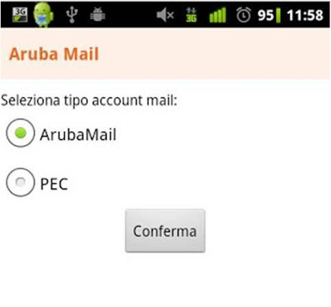 Aruba Mail su Android
