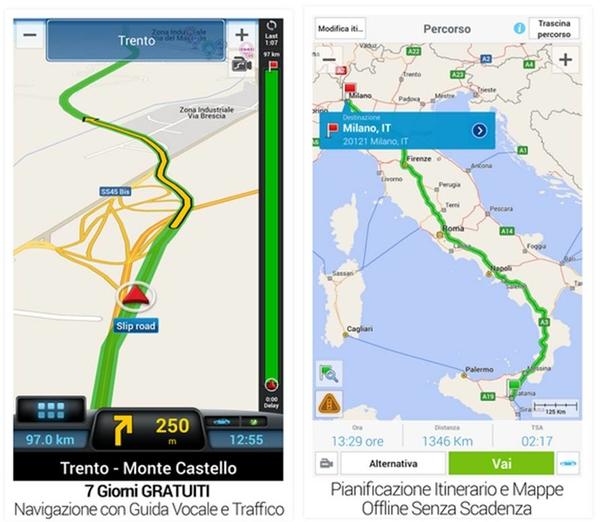 CoPilot GPS applicazioni Android gratuite per tablet
