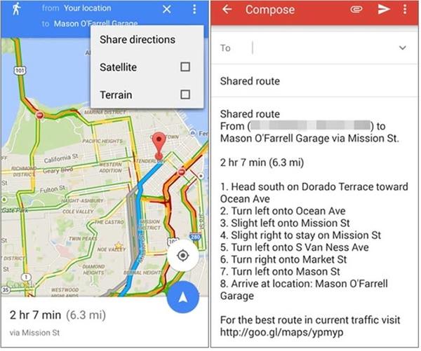 Google Maps su Android come condividere posizione e indicazioni