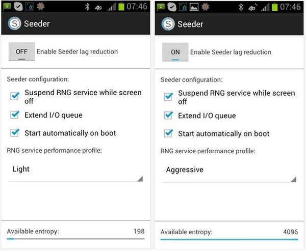 Lag in Android come rimuoverli con Seeder