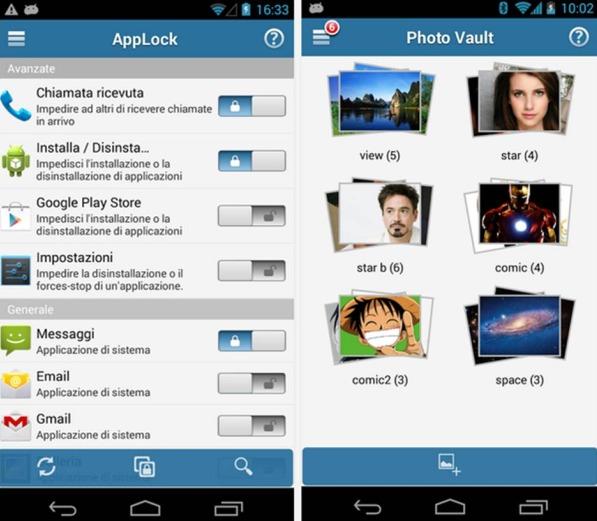 Serratura (AppLock) applicazioni Android da tenere