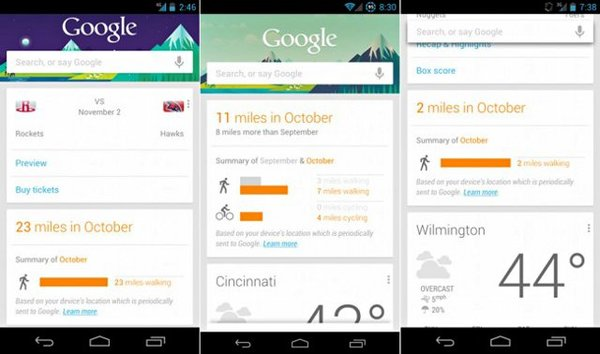 come disabilitare schede di Google Now su Android