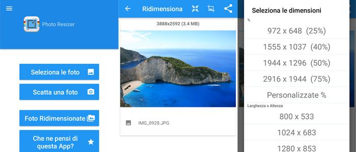 Migliori app per rimpicciolire foto Android