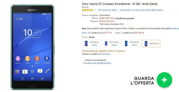 sony-xperia-z3-compact- migliori offerte amazon -27042015