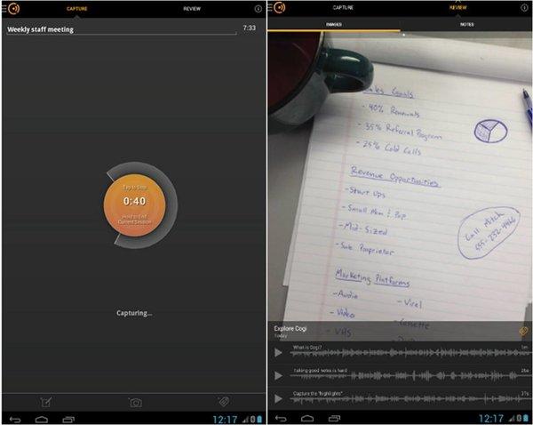 Cogi registratori vocali Android